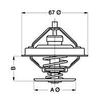 Термостат 71C Fi67 MAN F90/BUS D2866 LUH
