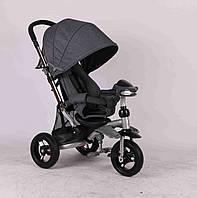 Детский трехколесный велосипед Azimut Crosser T-350 ECO серый ***