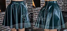 Эффектная кожаная юбка солнце-клеш. , фото 2
