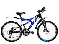 Горный подростковый велосипед 24 дюйма Azimut Blaster  127-FR синий***