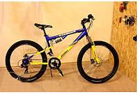 Горный подростковый велосипед 24 дюйма Azimut Ultimate 117-FR желто -синий***