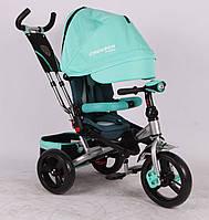 Трехколесный велосипед-коляска Azimut Crosser T-400 EVA, бирюзовый ***