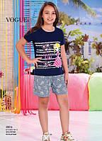 Детский комплект футболка+шорты для девочки Турция. VOGUE 20016 8/9. Размер на 8-9 лет.