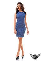 Платье трикотаж квадратики 3д электрик, ментоловое платье, цвета джинс