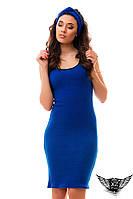 Платье с чалмой, голубое, голубенькое, цвета электрик, красное, бежевое, черное