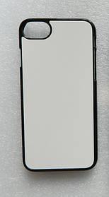 Чохол для сублімації 2D iPhone 7/8 пластик (чорний)