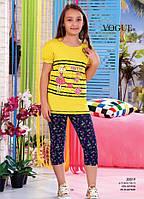 Детский комплект футболка+капри для девочки Турция. VOGUE 20019 10/11. Размер на 10-11 лет.
