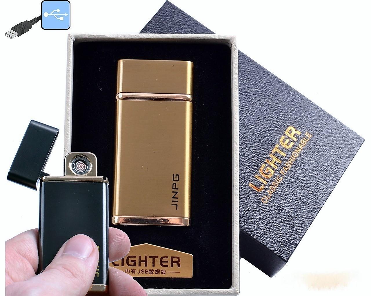 """Спиральная USB зажигалка """"Jinpg"""" №4786-2, в подарочной упаковке, практичный аксессуар, идея подарка другу"""