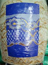 Ритуальное кружево белое с золотом,ширина 7см(1 уп-200ярдов)