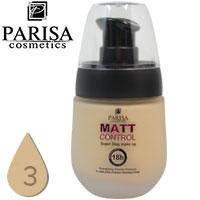 Parisa - Тональный крем Matt Control 18h SPF20 матирующий стойкий F-07 Тон 03 sunny beige
