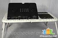 Столик Подставка для Ноутбука E-Table с 2 Кулерами, фото 1