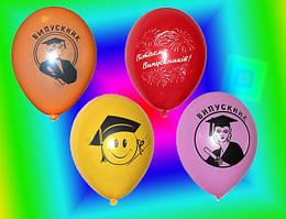 """Воздушные шары """"Вітаємо випускникiв"""" 12""""(30см) пастель ассорти 2 штампа В упак: 100шт."""
