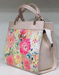 Сумка женская Цветы стильная красивая классика 17-6015-15