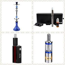 Электронные сигареты и кальяны, батарейные моды, клиромайзеры, атомайзеры, аксессуары