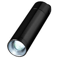 Фонарик-брелок Radar алюминиевый, черный, от 10 шт