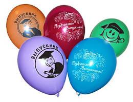"""Воздушные шары """"Поздравляем выпускников"""" 12""""(30см) пастель ассорти 2 штампа В упак: 100шт."""