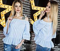 Красивая блузка свободного кроя, с открытыми плечами, на бретельках-завязках.