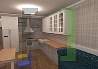 Дизайн-проект интерьера - кухня-гостиная
