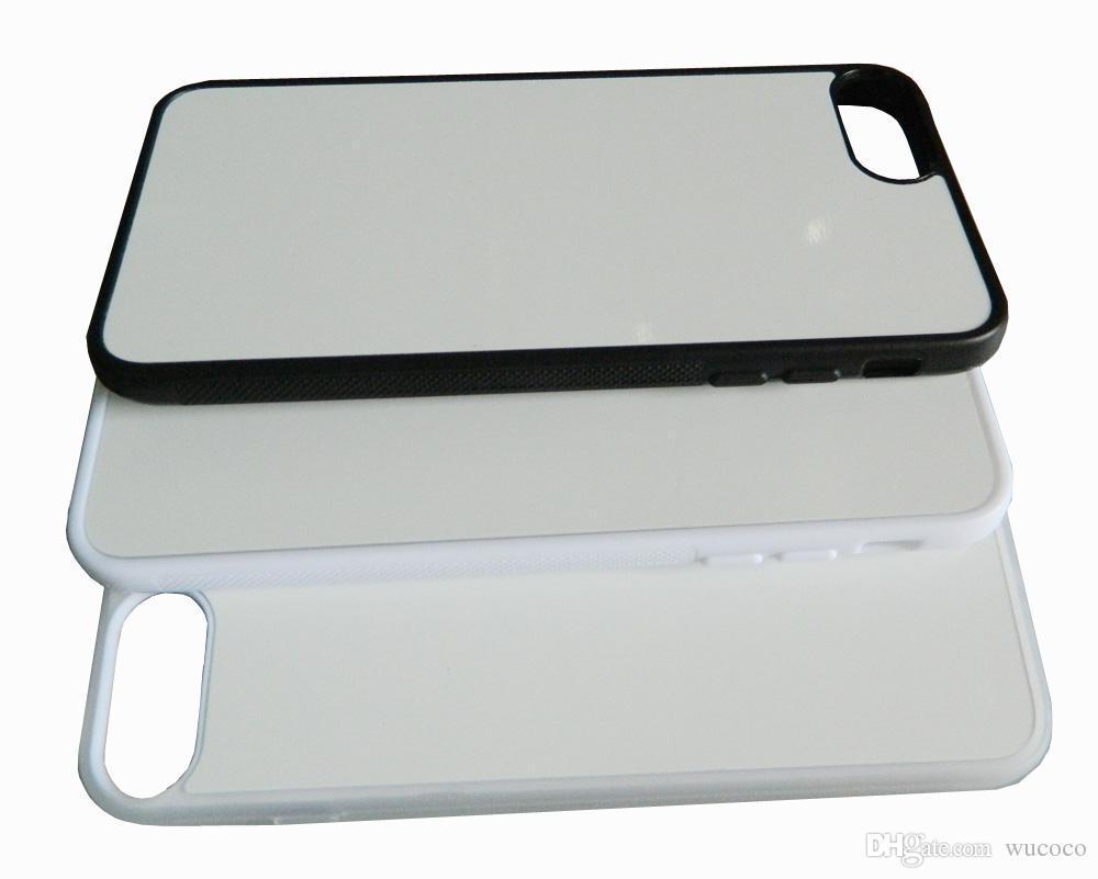 Чехол для сублимации 2D iPhone 7+/8+ TPU (чёрный)