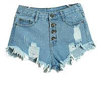 Шорты женские джинсовые (голубые)