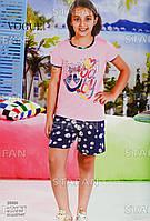 Детский комплект футболка+шорты для девочки Турция. VOGUE 20006 6/7. Размер 6-7 лет.
