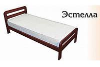 Кровать односпальная Эстелла из натурального дерева 90х200 см
