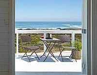 Комплект складной садовой мебели из стали и ротанга искуственного (стол + 2 стульчика)