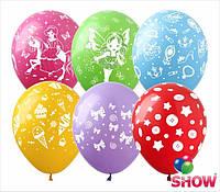 """Воздушные шарики Микс """"Для девочек"""". 12(30см). В упак:100шт."""