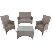 Комплект мебели садовой  4 места из искусственнго ротанга, фото 1