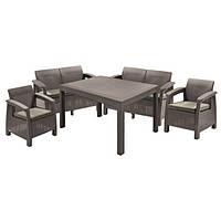 Комплект садовой мебели на 6 человек из искусственного ротанга (2 дивана + 2 кресла)