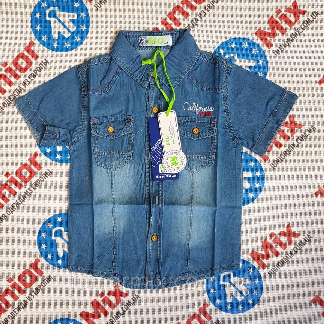 Джинсовая рубашка на мальчика с карманами  B&Q