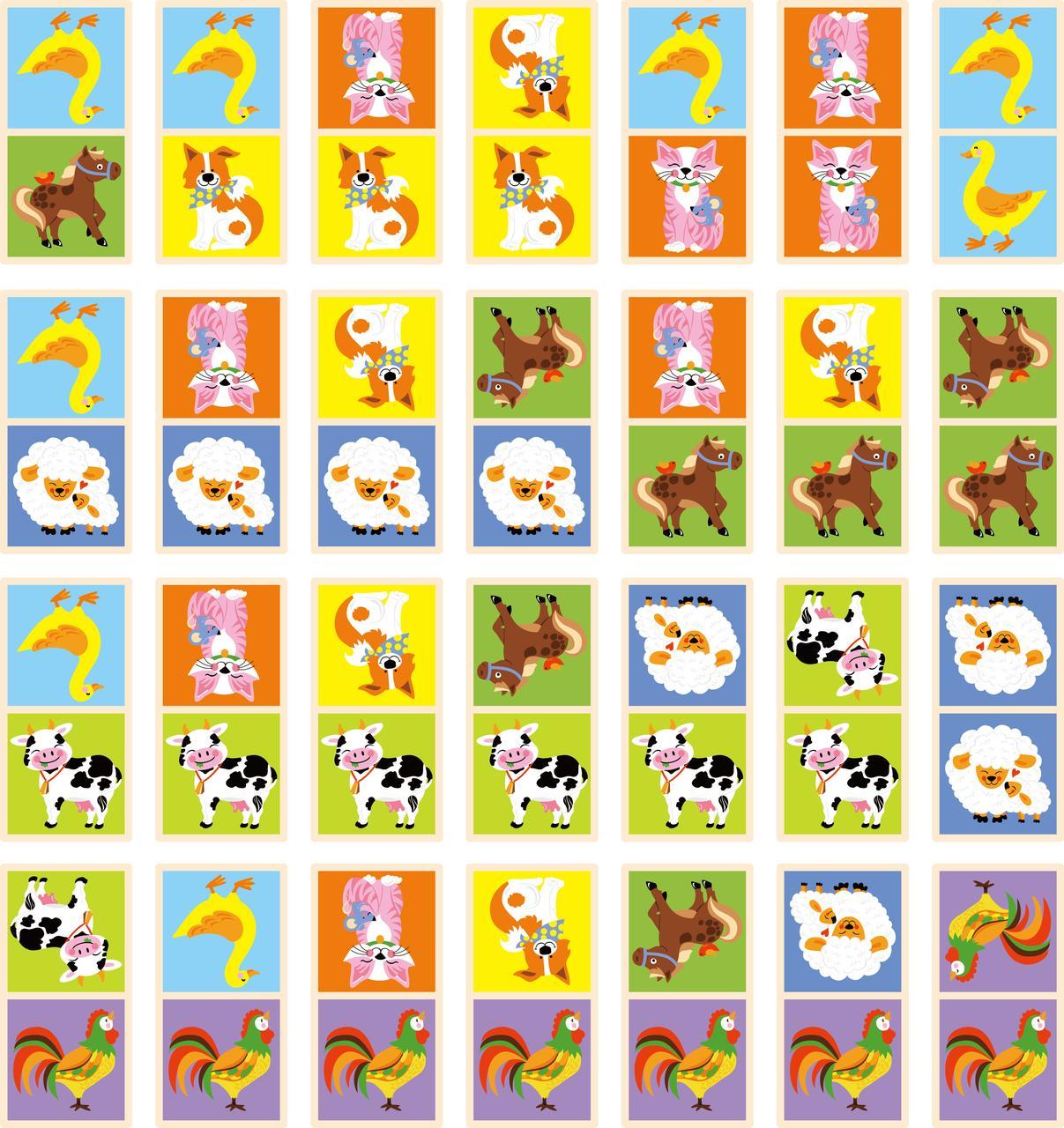 Настільна гра «Viga Toys» (51306) доміно Ферма