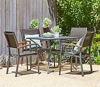 Комплект мебели для сада, кафе и ресторанов (4 стула  и столик квадратный из метала ), фото 1