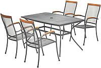 Комплект мебели для сада, кафе и ресторанов из метала (4 стула  и столик квадратный из метала )