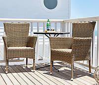 Комплект садовой мебели из искусственного  ротанга (2 кресла и столик на ножке)