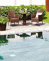 Комплект садовой мебели из искусственного ротанга (2 кресла и столик на ножке )