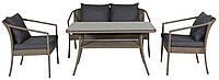 Комплект садовой мебели из искусственного ротанга (2 кресла, диванчик и столик )
