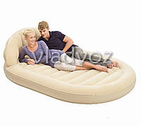 Надувная двухспальная кровать матрас овал Bestway 67397 215 х 152 х 60 см.