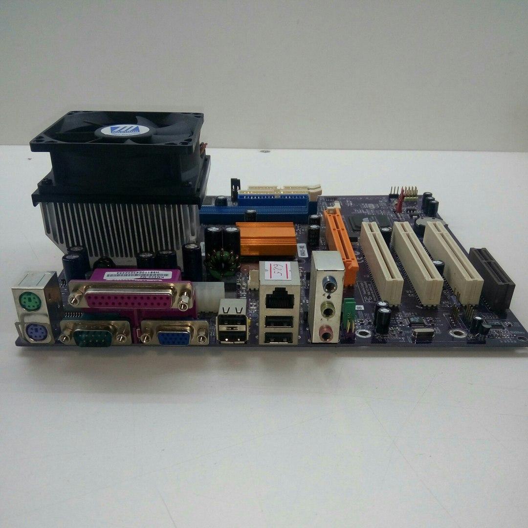 Материнская плата Elitegroup KM400-M2 +Процессор AMD Athlon XP 2000+