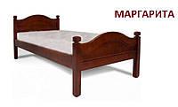 Кровать односпальная Маргарита из натурального дерева 90х190 см