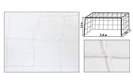 Сітка футбольна вузлова Розмір: 7,32*2,44 м. C-5372, фото 2