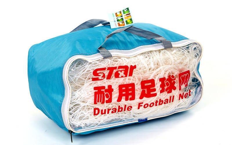 Сітка футбольна вузлова Розмір: 7,32*2,44 м. C-5372