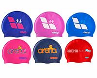 Шапочка для плавания Arena Kun Cap, силикон, разн. цвета