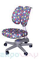 Детское компьютерное ортопедическое кресло растишка Ergoway M300-D blue
