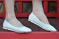 Балетки, туфли женские летние белые удобные и легкие 2017