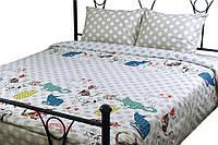 """Комплект постельного белья сатин Cat ТМ """"Руно"""" полуторный размер"""