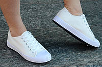 Кеды женские типа Converse конверс светлый беж удобные (Код: 526), фото 1