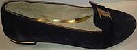 Туфли женские замшевые р36-39 ELEGANCE 722 синие SADI
