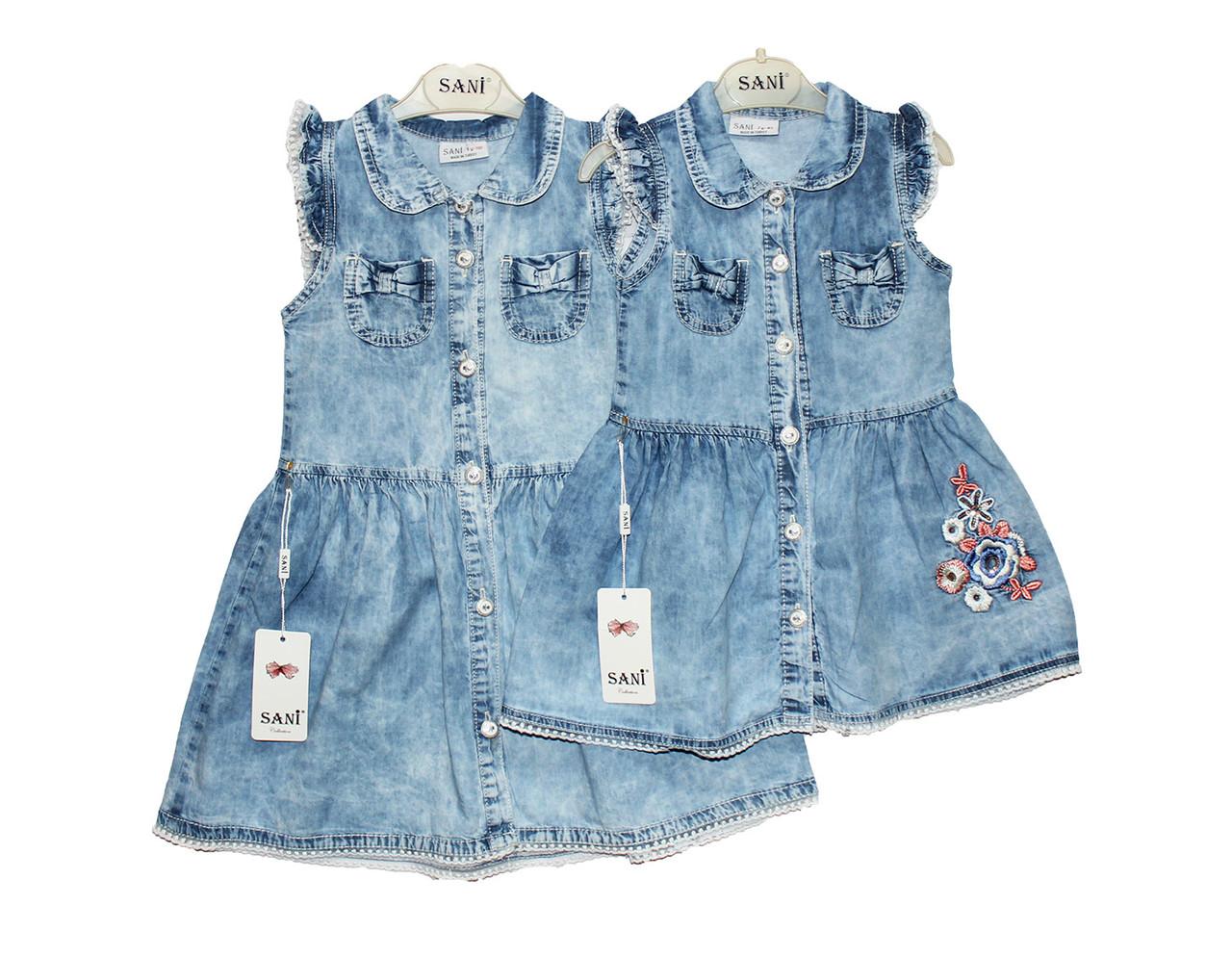 Платье детское джинсовое на лето SANI 9142