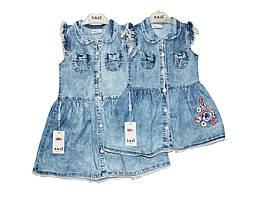 Платья детское джинсовое на лето SANI 9142